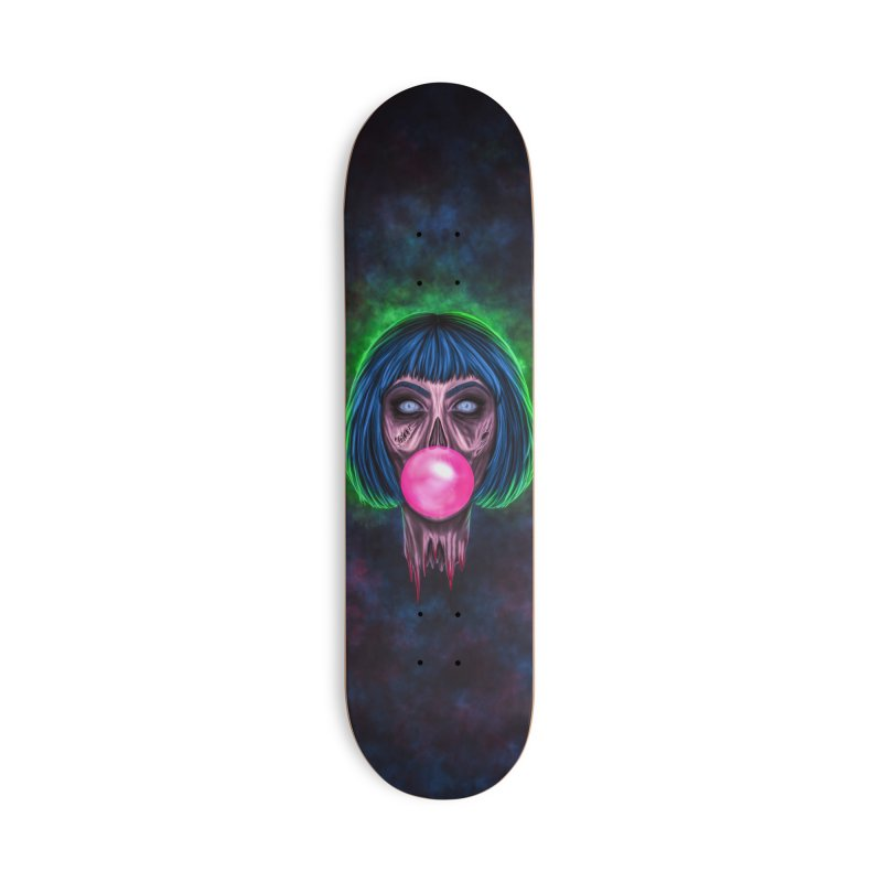 Zombie Bubblegum Accessories Skateboard by The Glitchway