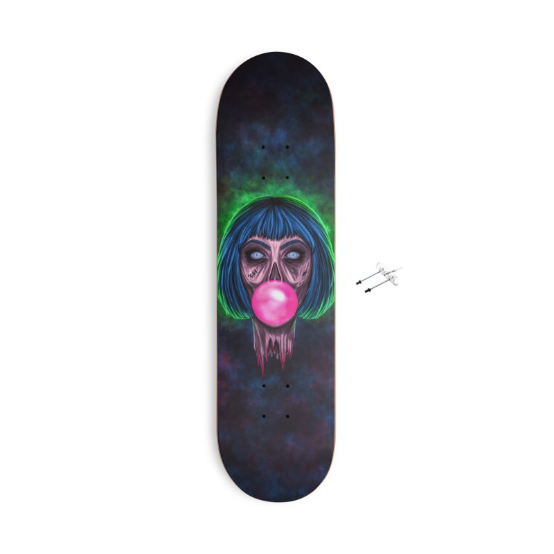 Zombie Bubblegum Accessories With Hanging Hardware Skateboard by The Glitchway