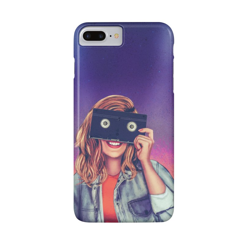 VHS Vision Accessories Phone Case by Glitchway Store
