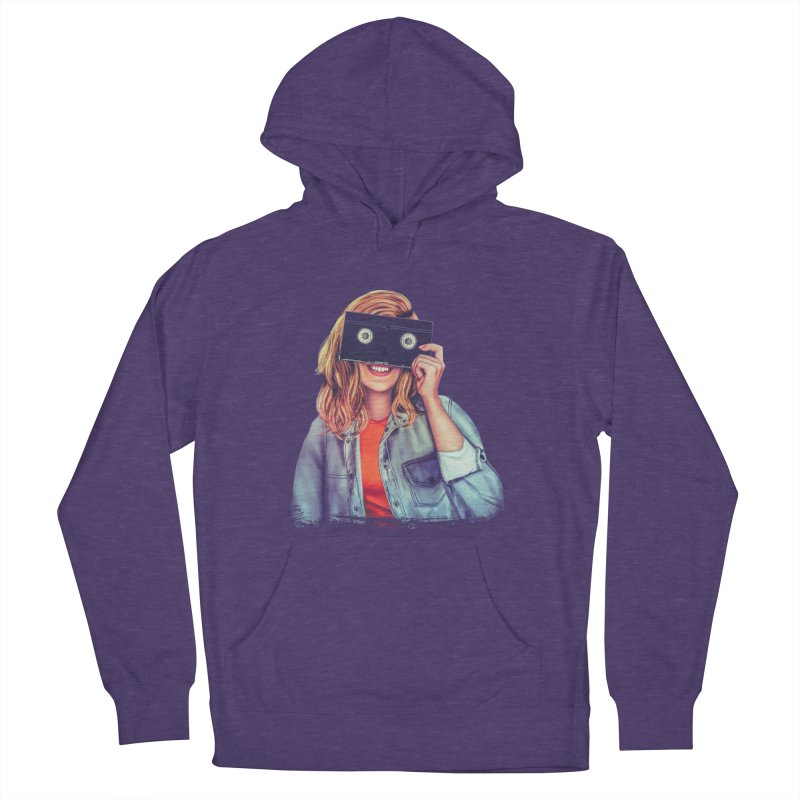 VHS Vision Men's French Terry Pullover Hoody by The Glitchway