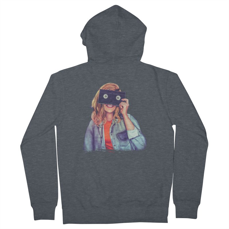 VHS Vision Women's French Terry Zip-Up Hoody by The Glitchway