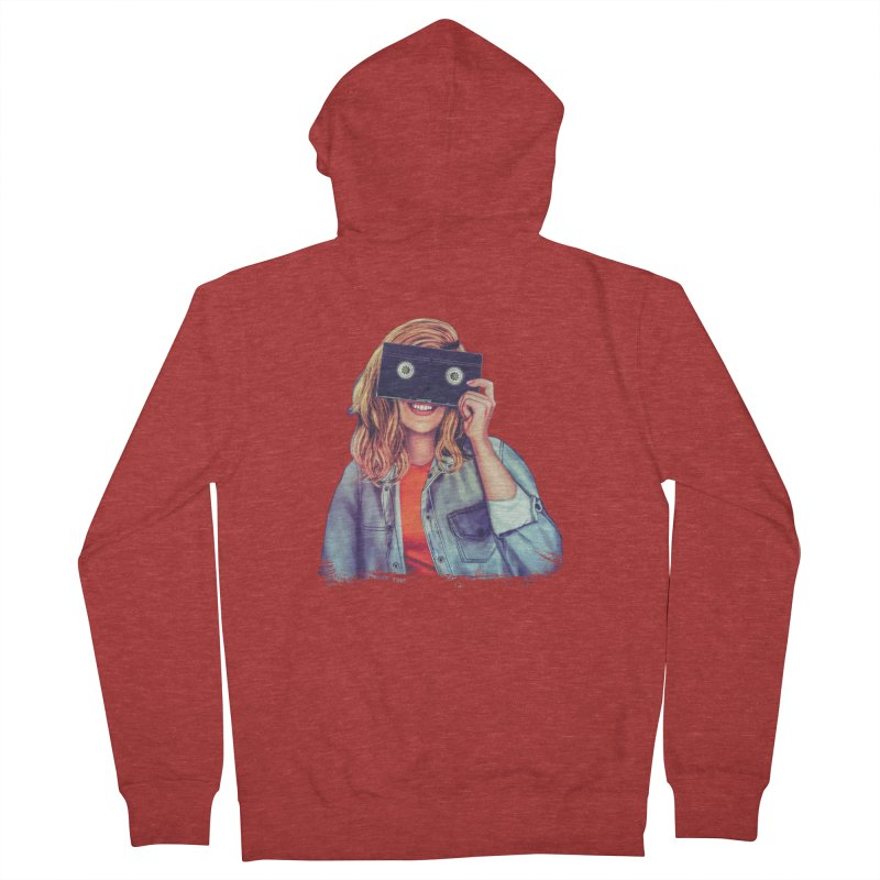 VHS Vision Women's Zip-Up Hoody by Glitchway Store