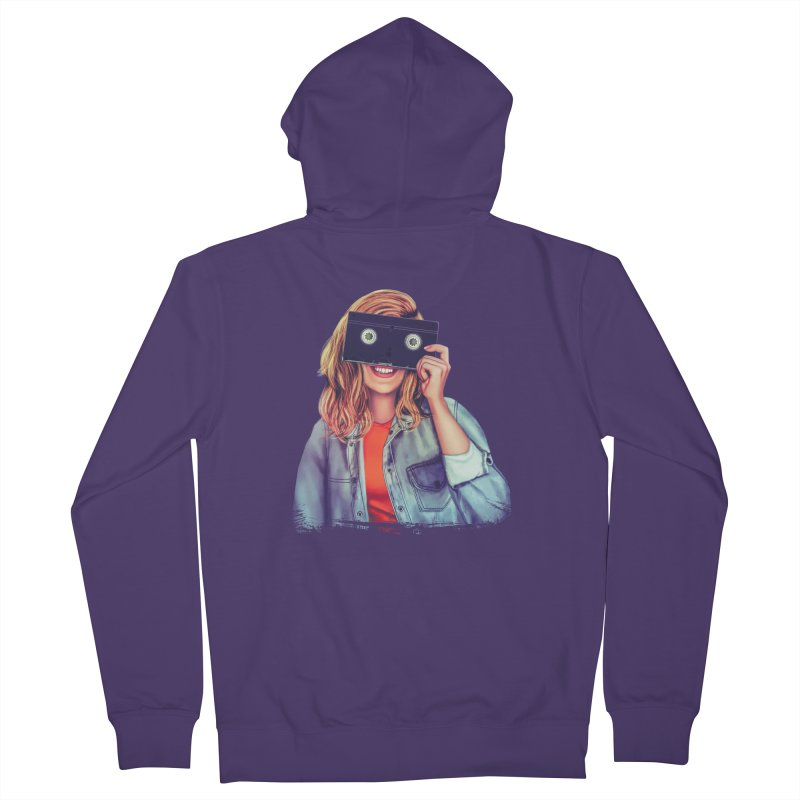 VHS Vision Women's Zip-Up Hoody by The Glitchway