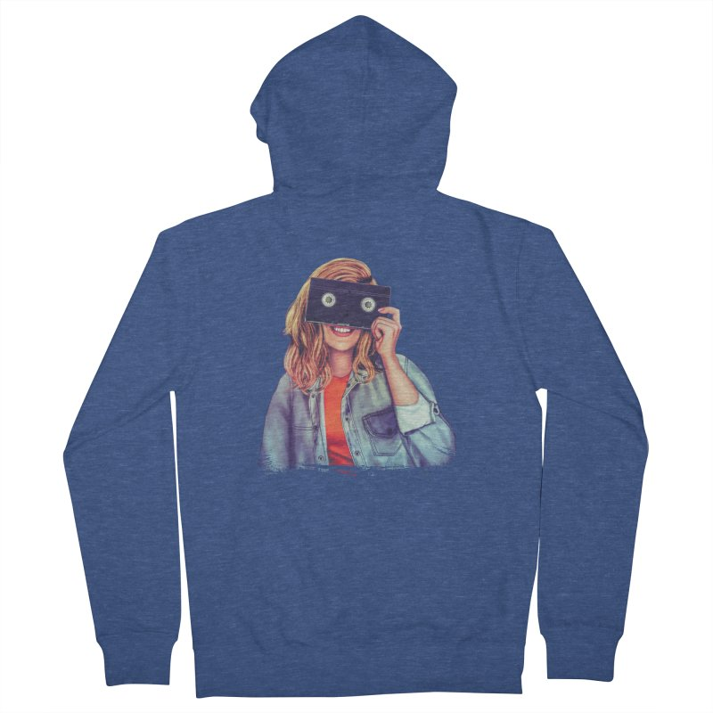 VHS Vision Men's French Terry Zip-Up Hoody by The Glitchway