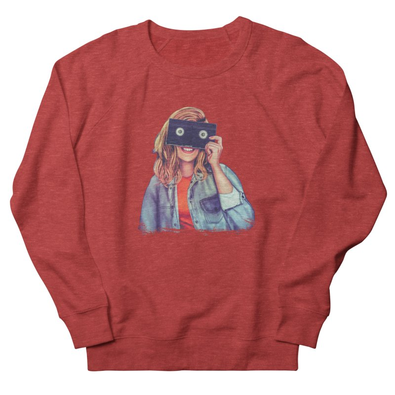 VHS Vision Women's French Terry Sweatshirt by The Glitchway