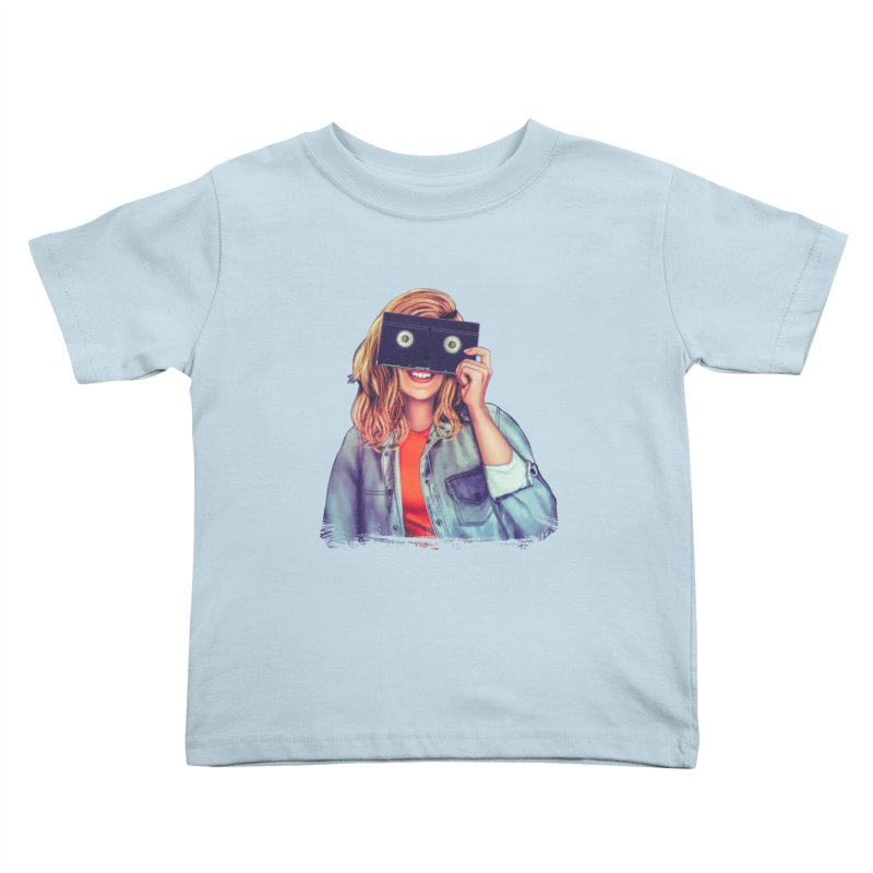 VHS Vision Kids Toddler T-Shirt by The Glitchway
