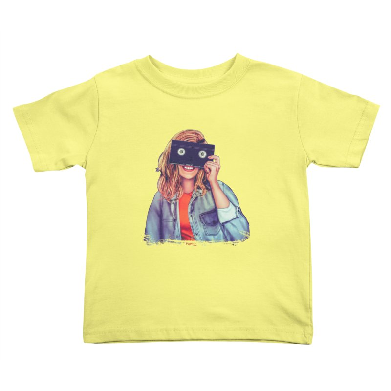 VHS Vision Kids Toddler T-Shirt by Glitchway Store