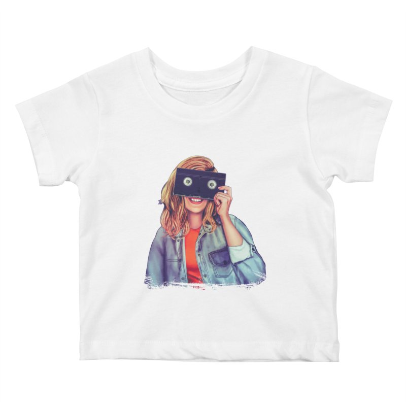 VHS Vision Kids Baby T-Shirt by Glitchway Store