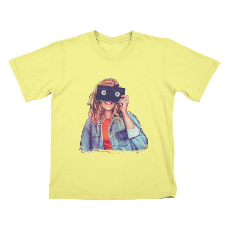 VHS Vision Kids T-shirt by Glitchway Store