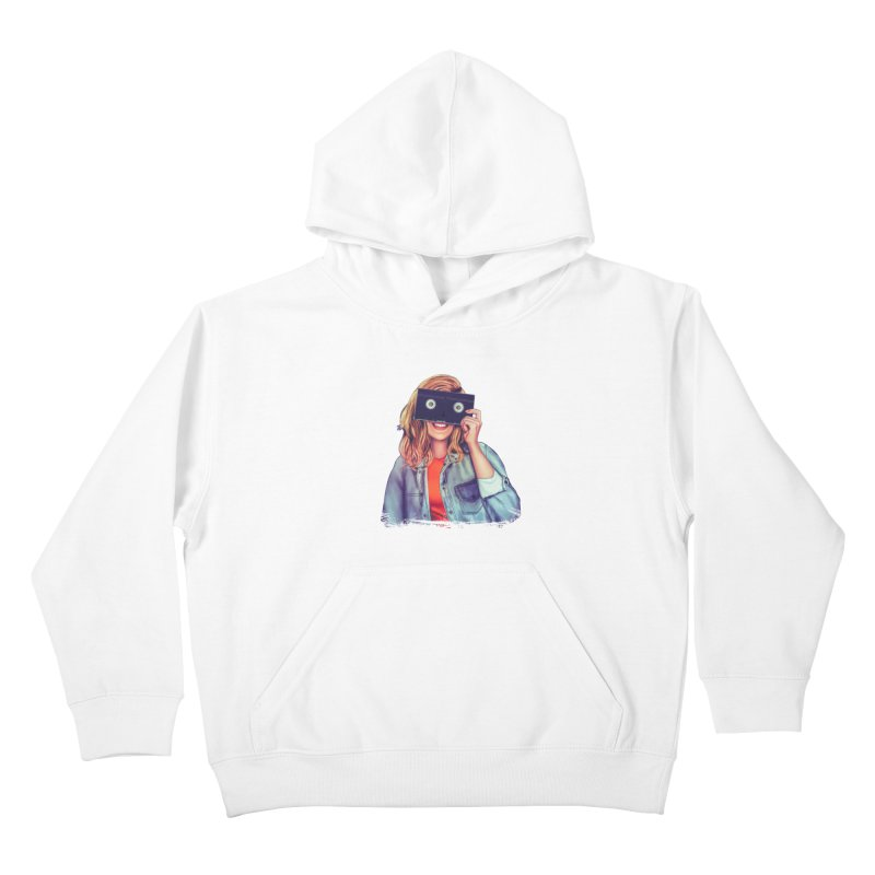 VHS Vision Kids Pullover Hoody by Glitchway Store