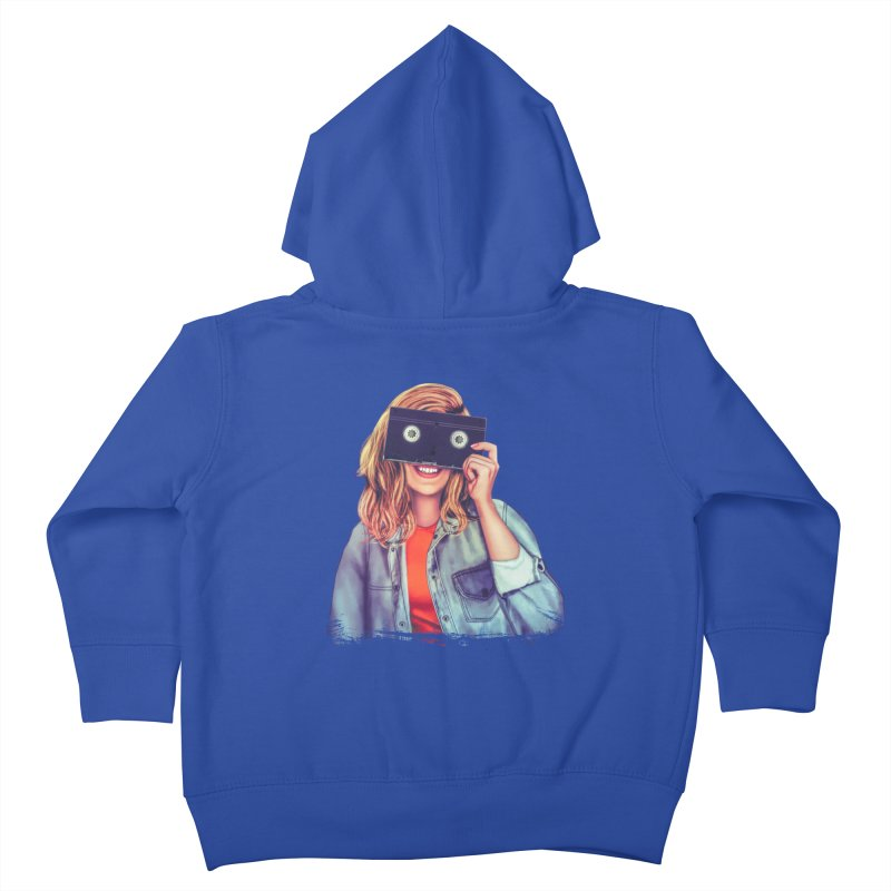 VHS Vision Kids Toddler Zip-Up Hoody by The Glitchway