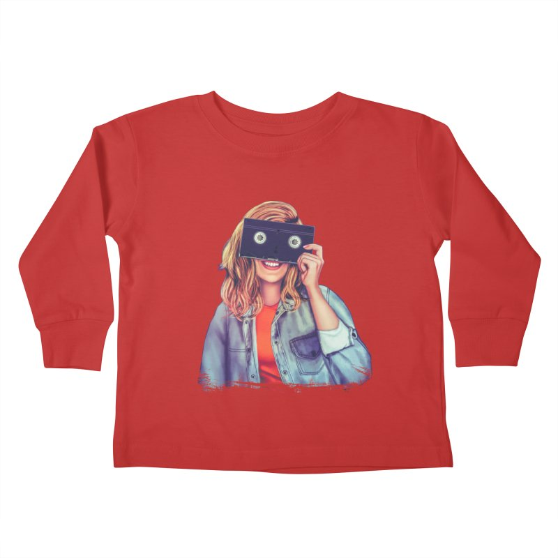 VHS Vision Kids Toddler Longsleeve T-Shirt by The Glitchway