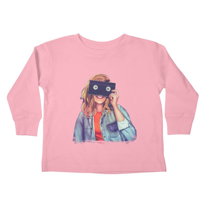 VHS Vision Kids Toddler Longsleeve T-Shirt by Glitchway Store