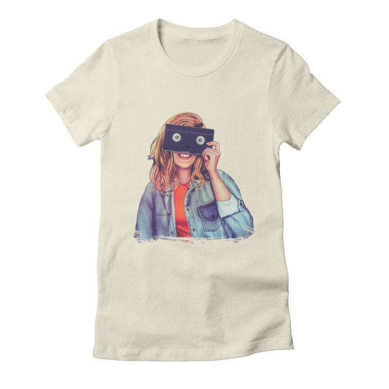 VHS Vision Women's Fitted T-Shirt by The Glitchway
