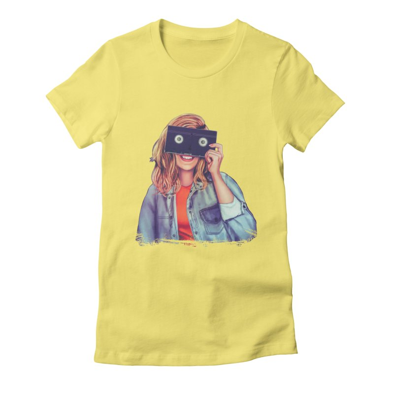 VHS Vision Women's Fitted T-Shirt by Glitchway Store