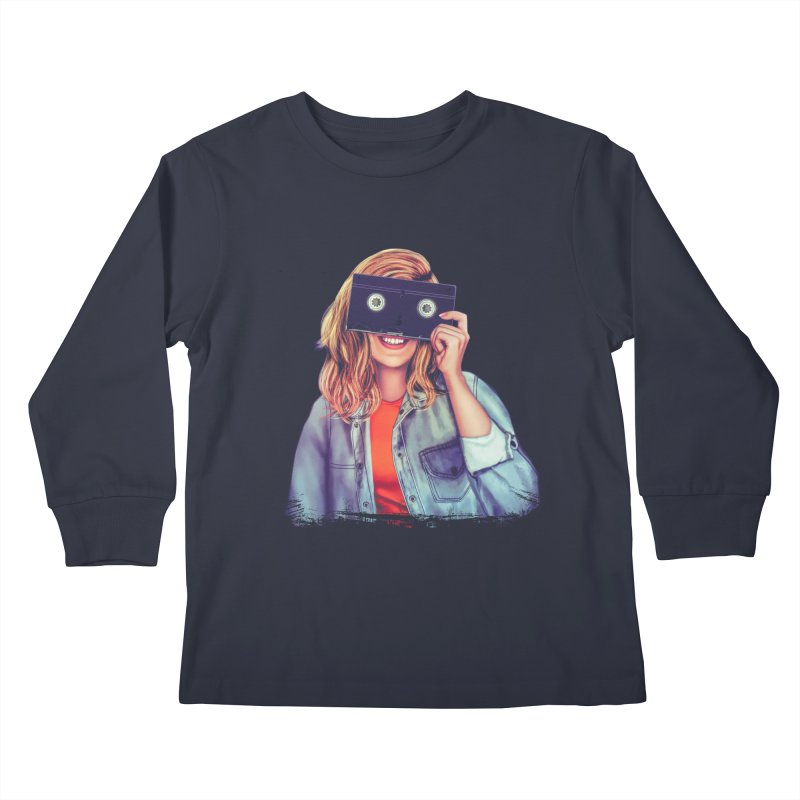 VHS Vision Kids Longsleeve T-Shirt by Glitchway Store