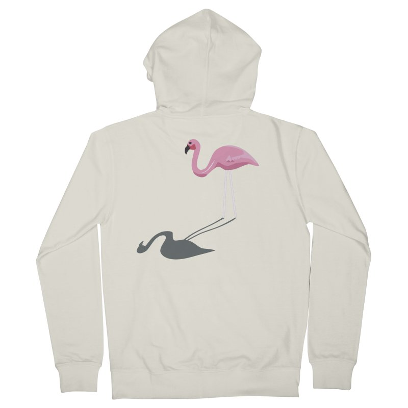 Mr. Flamingo Women's Zip-Up Hoody by The Glitchway
