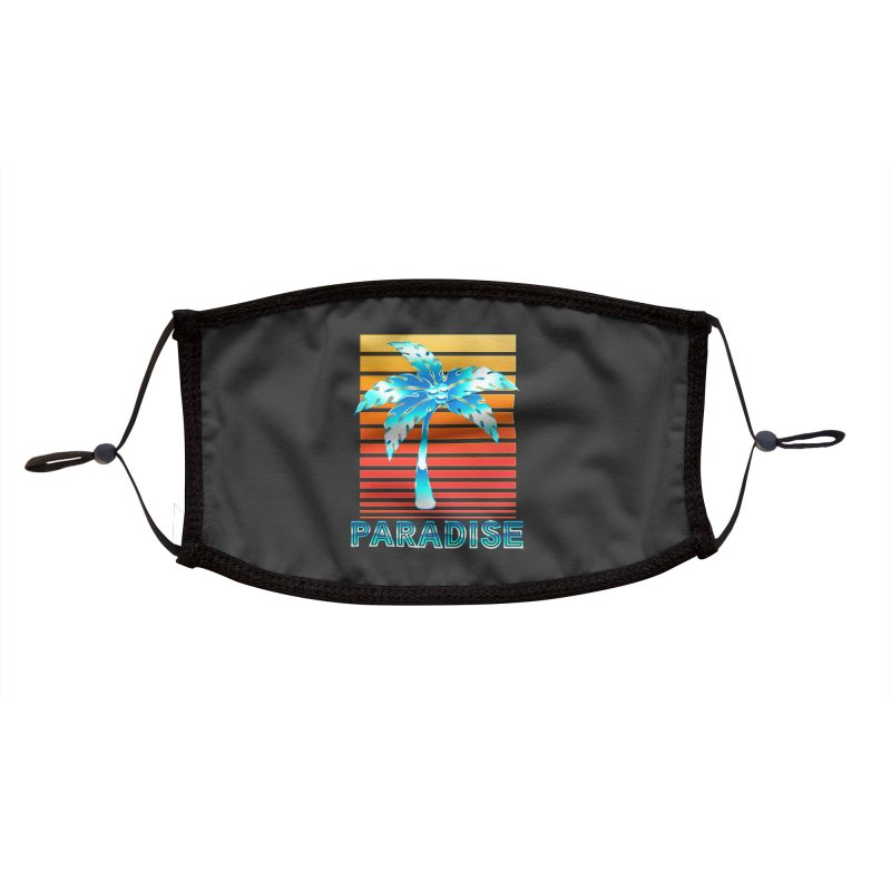 Chrome Wave: Summer Paradise Accessories Face Mask by The Glitchway