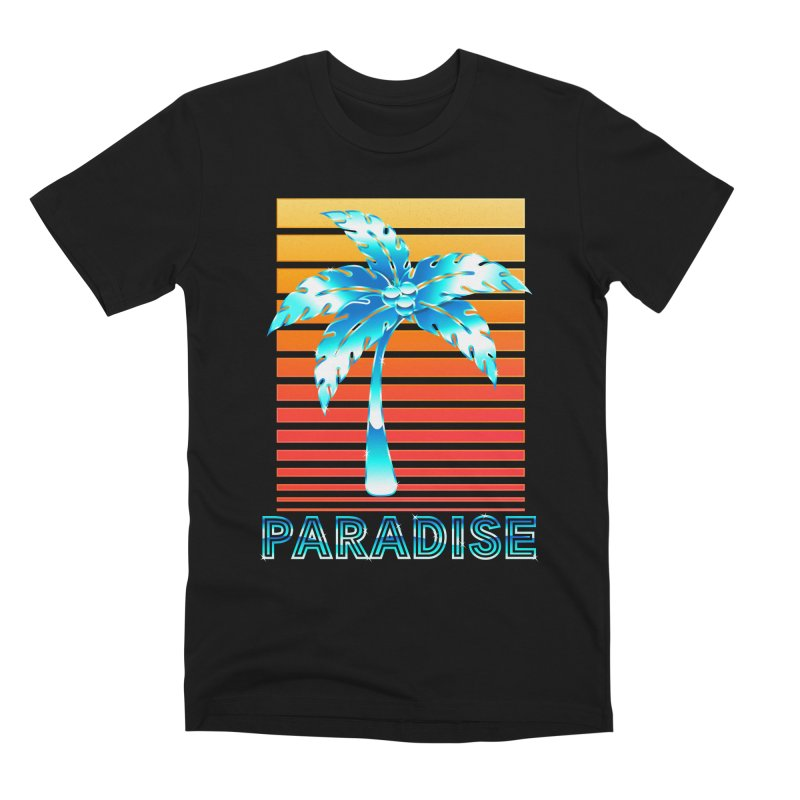 Chrome Wave: Summer Paradise Men's T-Shirt by The Glitchway