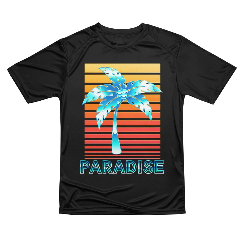 Chrome Wave: Summer Paradise Women's T-Shirt by The Glitchway