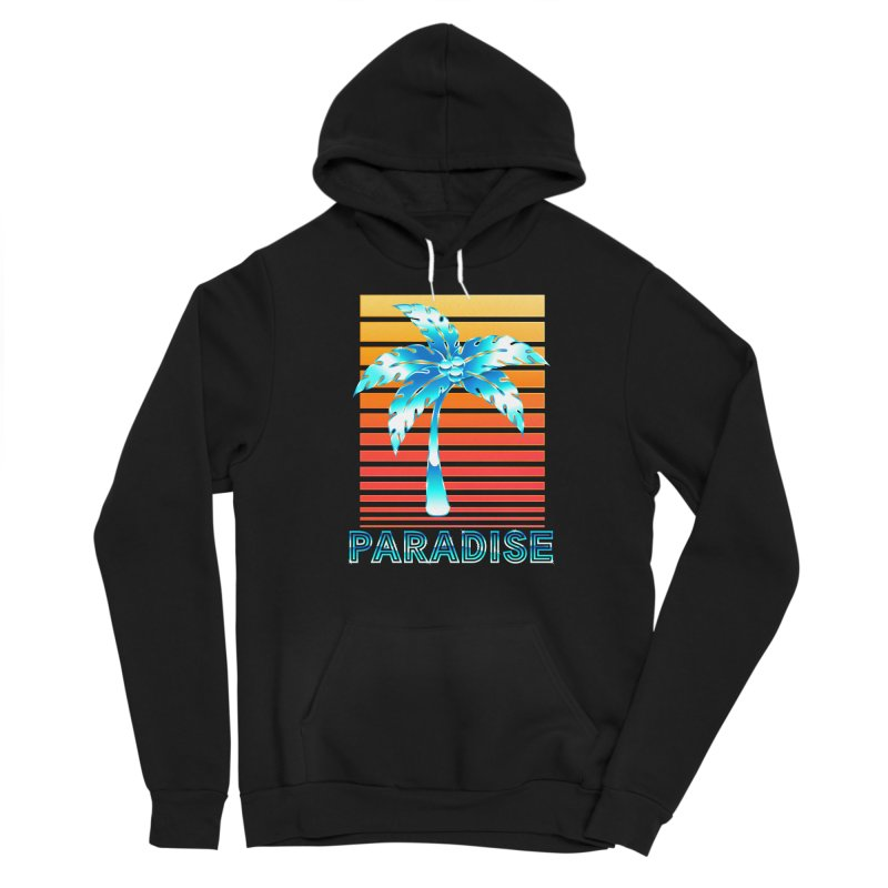 Chrome Wave: Summer Paradise Women's Pullover Hoody by The Glitchway