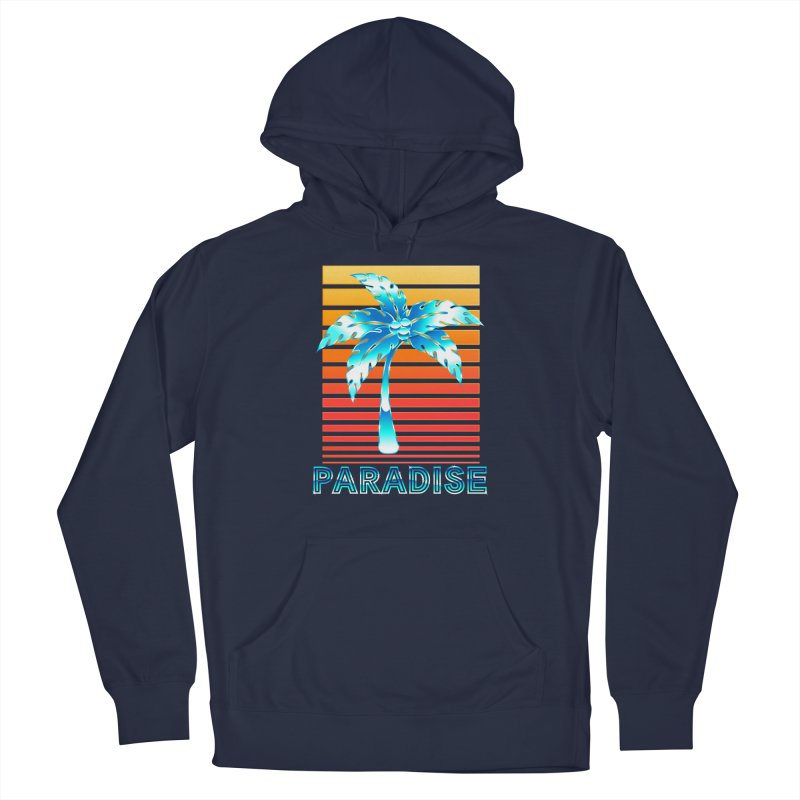Chrome Wave: Summer Paradise Men's Pullover Hoody by The Glitchway