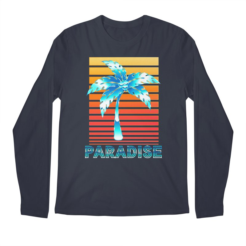 Chrome Wave: Summer Paradise Men's Longsleeve T-Shirt by The Glitchway