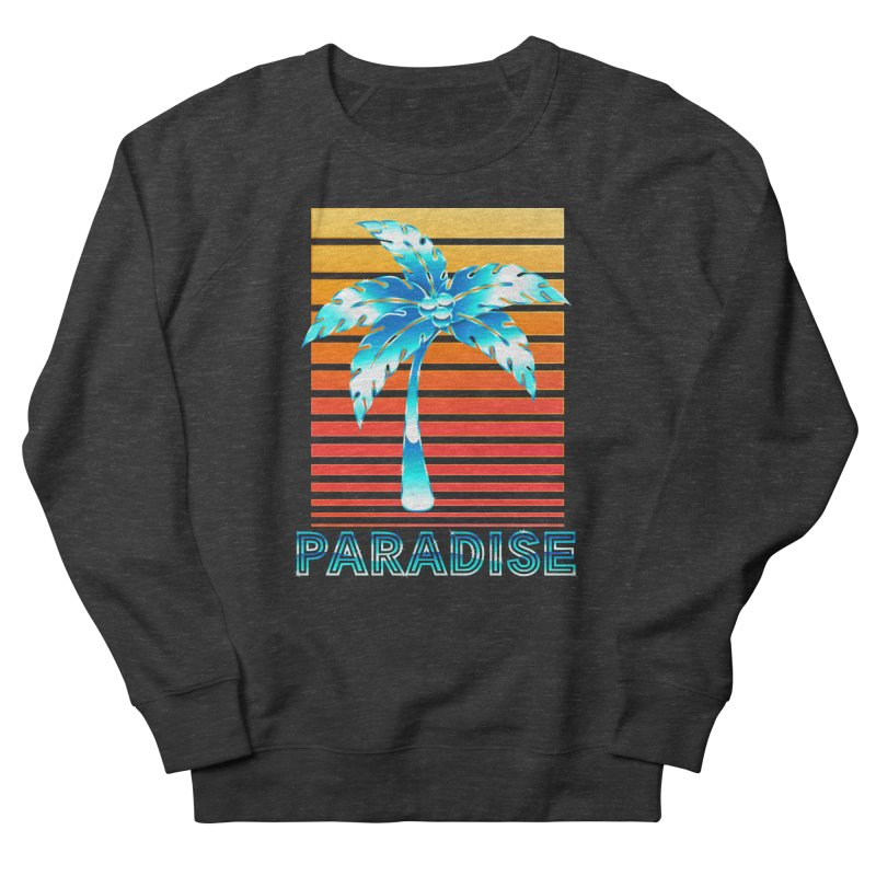 Chrome Wave: Summer Paradise Women's Sweatshirt by The Glitchway