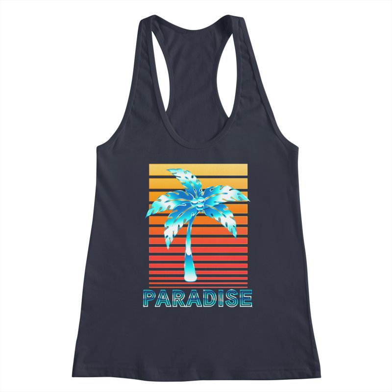 Chrome Wave: Summer Paradise Women's Tank by The Glitchway