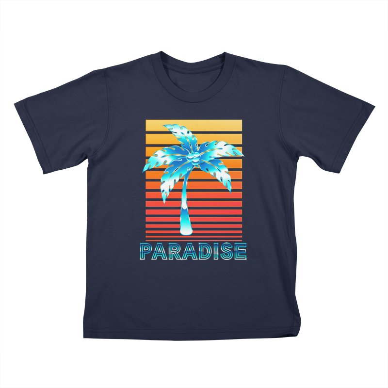Chrome Wave: Summer Paradise Kids T-Shirt by The Glitchway