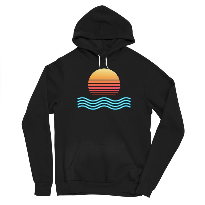 Chrome Wave: Midnight Sun Women's Pullover Hoody by The Glitchway