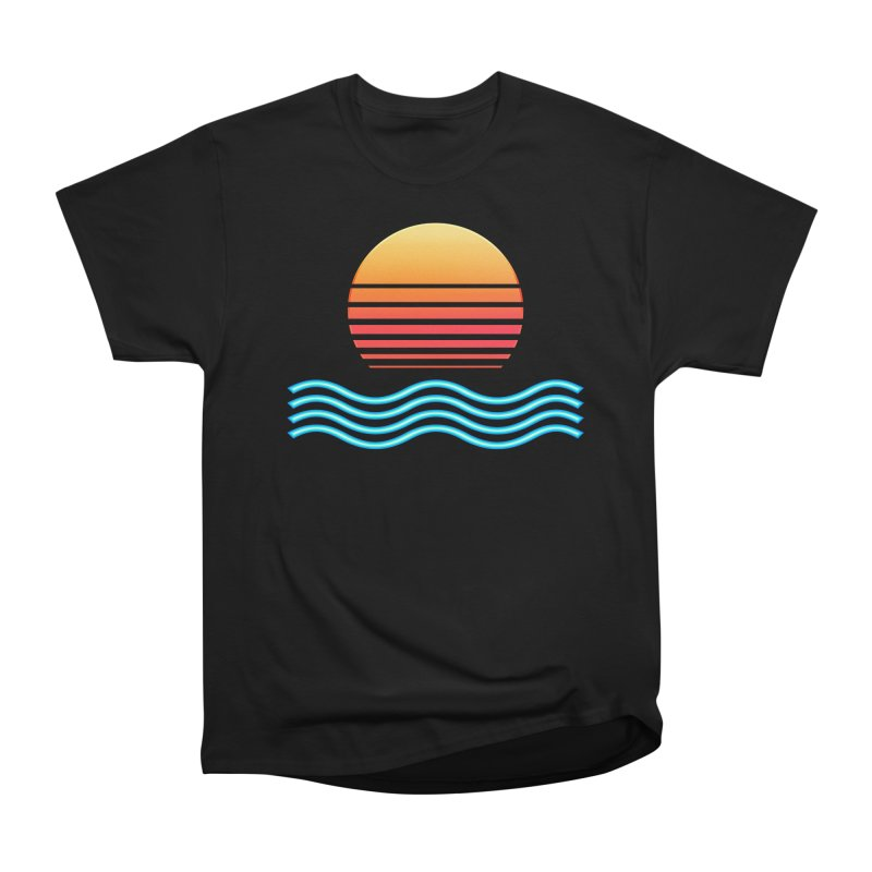Chrome Wave: Midnight Sun Women's T-Shirt by The Glitchway
