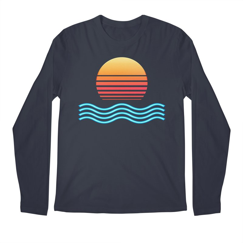 Chrome Wave: Midnight Sun Men's Longsleeve T-Shirt by The Glitchway