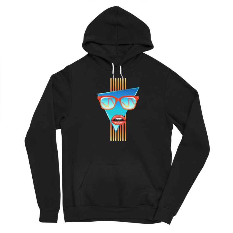 Chrome Wave: Red Lips Women's Pullover Hoody by The Glitchway