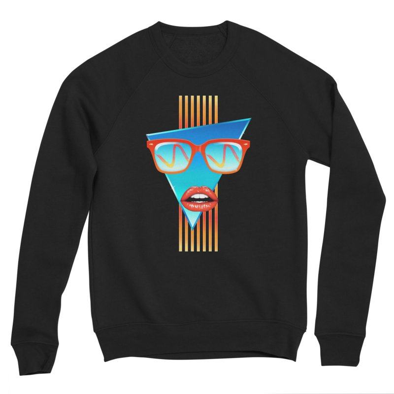 Chrome Wave: Red Lips Women's Sweatshirt by The Glitchway