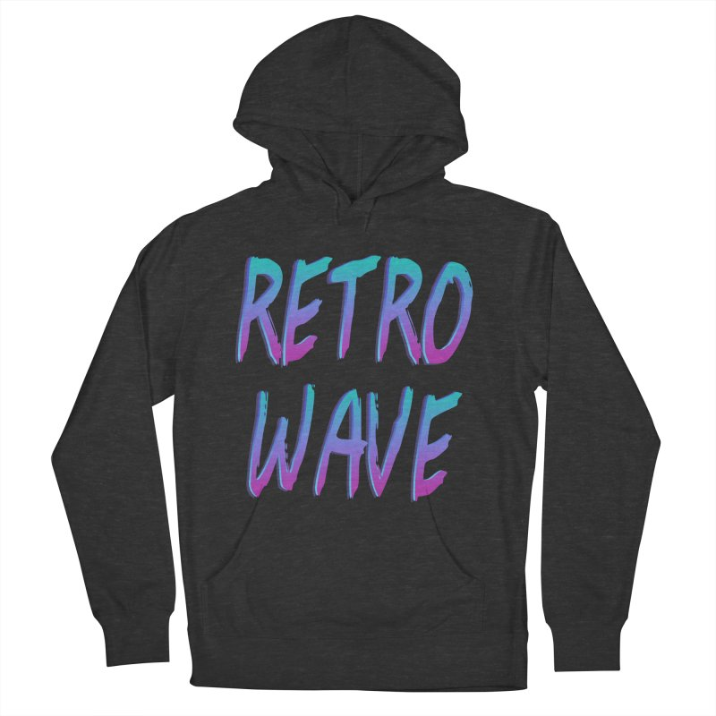 Retrowave Ocean II Women's French Terry Pullover Hoody by The Glitchway