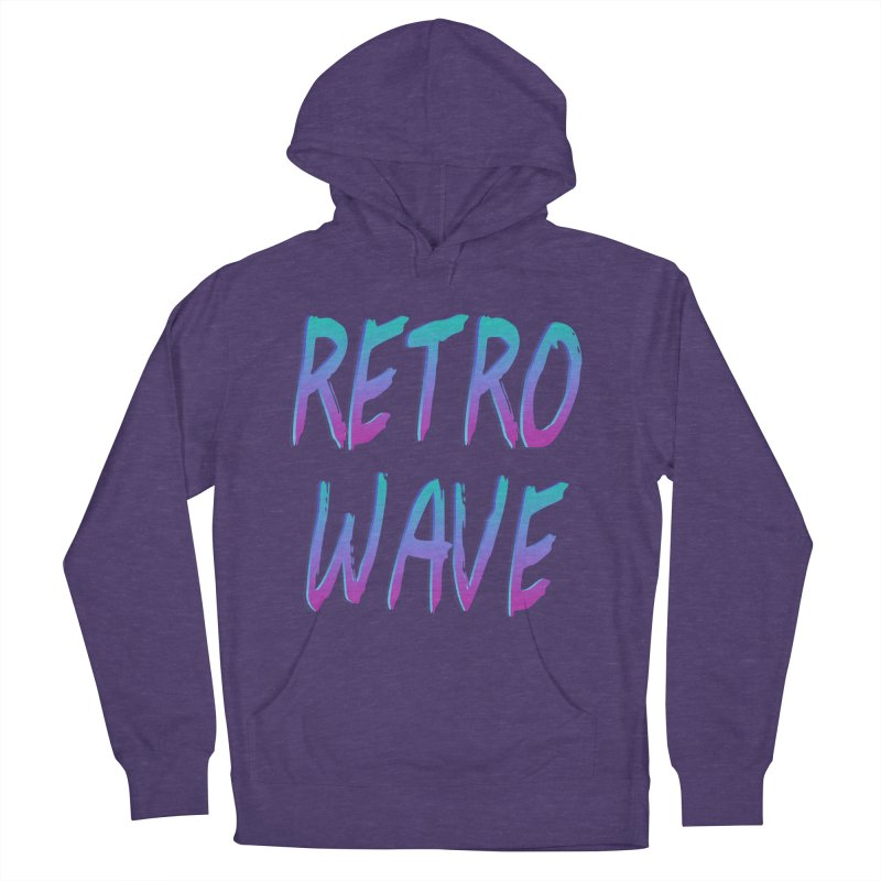 Retrowave Ocean II Men's French Terry Pullover Hoody by The Glitchway
