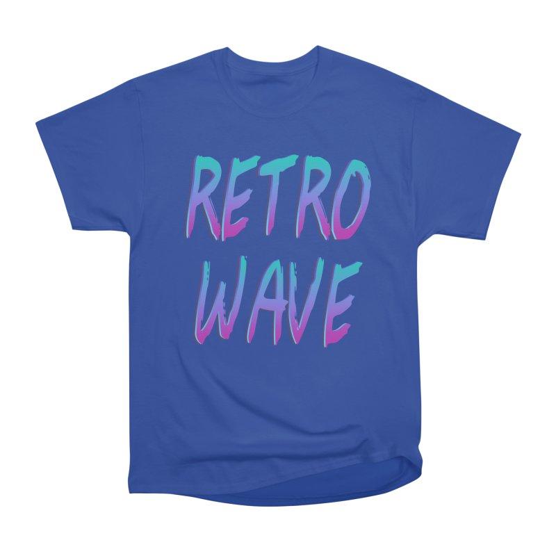 Retrowave Ocean II Women's Heavyweight Unisex T-Shirt by Glitchway Store