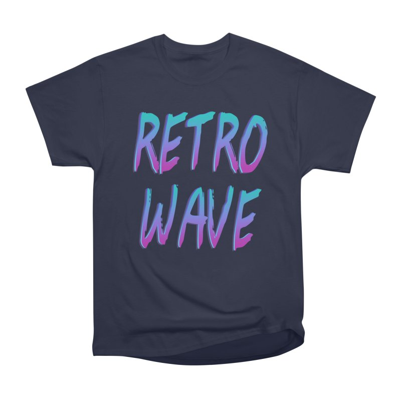 Retrowave Ocean II Men's Heavyweight T-Shirt by The Glitchway