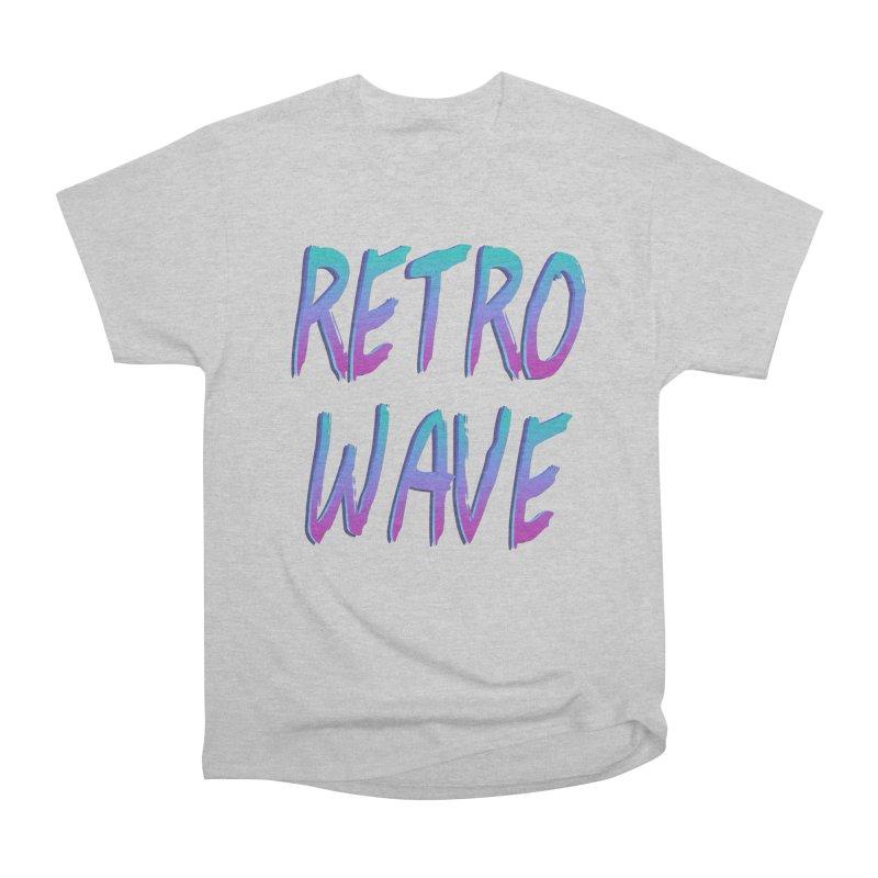 Retrowave Ocean II Men's Heavyweight T-Shirt by The Glitchway