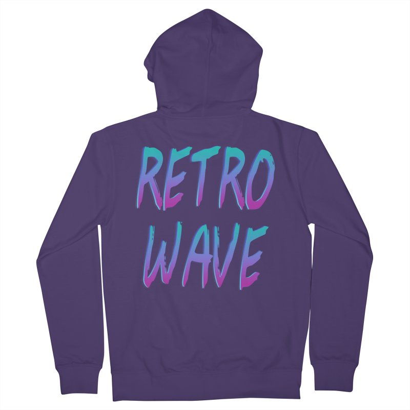 Retrowave Ocean II Women's Zip-Up Hoody by Glitchway Store