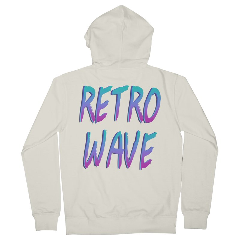 Retrowave Ocean II Women's French Terry Zip-Up Hoody by The Glitchway