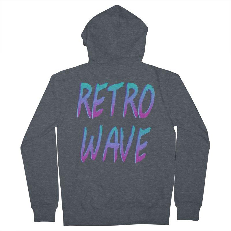 Retrowave Ocean II Men's Zip-Up Hoody by Glitchway Store