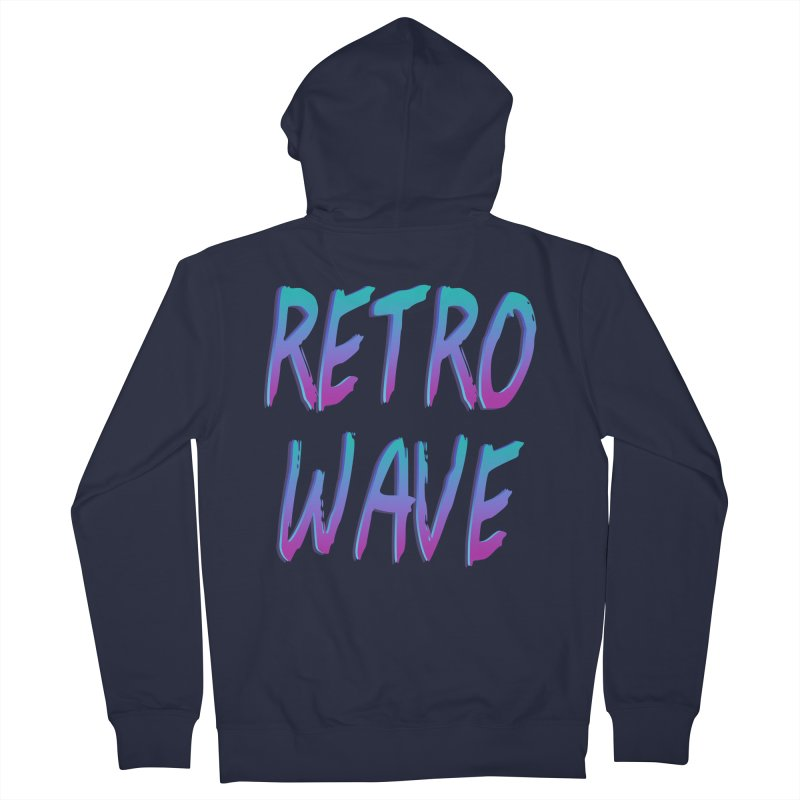 Retrowave Ocean II Men's French Terry Zip-Up Hoody by The Glitchway