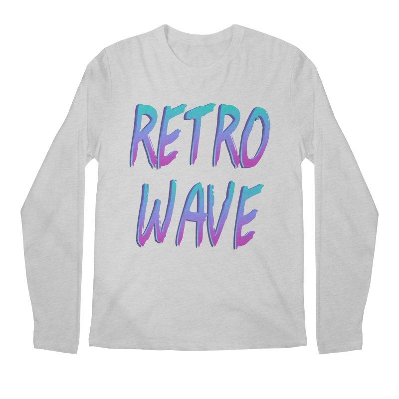 Retrowave Ocean II Men's Regular Longsleeve T-Shirt by The Glitchway