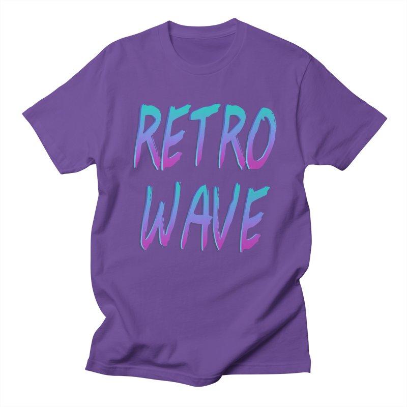 Retrowave Ocean II Men's T-Shirt by Glitchway Store