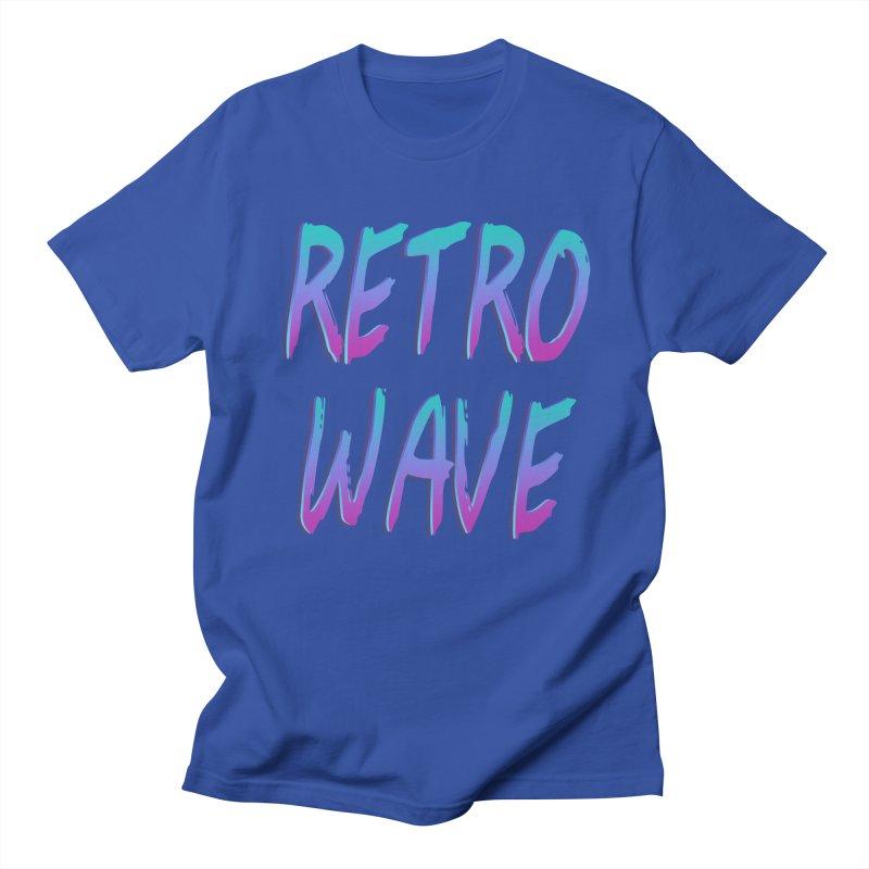 Retrowave Ocean II Men's Regular T-Shirt by The Glitchway