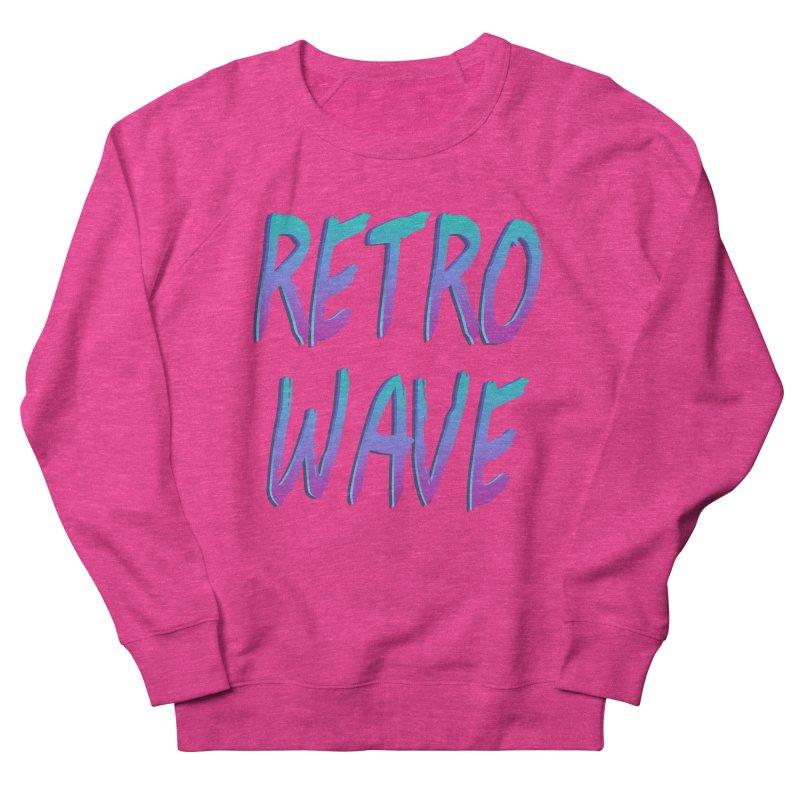 Retrowave Ocean II in Men's Sweatshirt Heather Heliconia by Glitchway Store
