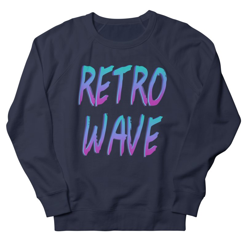 Retrowave Ocean II Men's French Terry Sweatshirt by The Glitchway