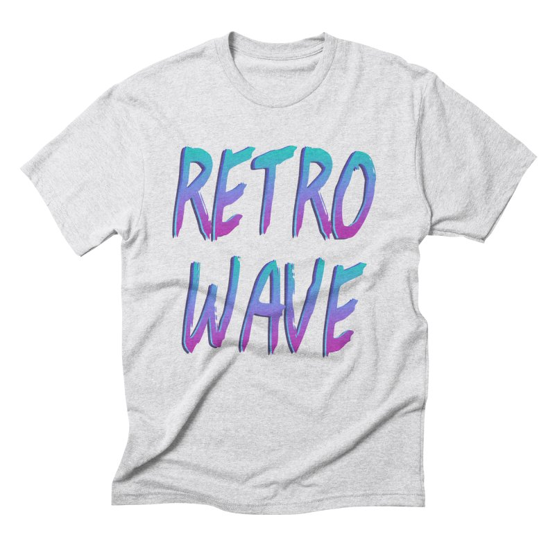 Retrowave Ocean II Men's Triblend T-Shirt by The Glitchway